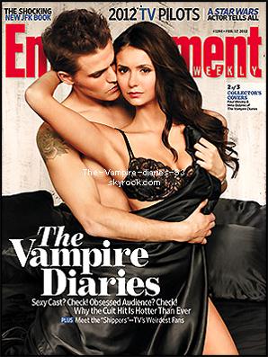"""Le trio sur la nouvelle couverture du mois de Février du magazine """"Entertainment Weekly"""" + Ian Somerhalder sur la couverture du magazine """"Statuts"""""""