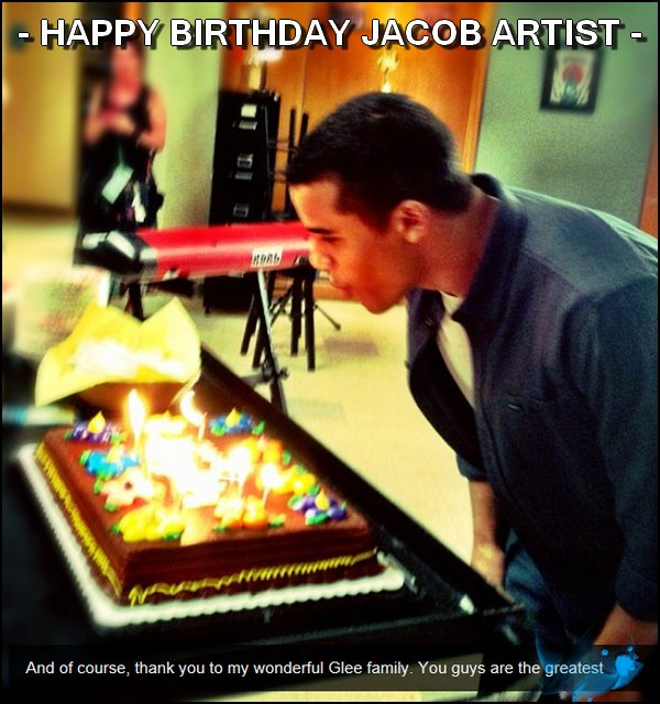 17/10/2012: Jacob Artist a fêté ses 20 ans w/ the GLEE Family.