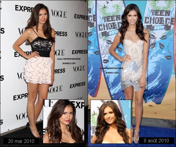 . TheVampireDiarie DOSSIER | Par manque de news, j'ai décidé de vous poster un article avec les plus belles apparitions de Nina sur le tapis rouge en 2010 selon moi. Laquelle de ses apparitions est votre préférée ? .
