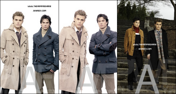 . TheVampireDiarie PHOTOSHOOT | Voici de nouveaux outtakes d'un ancien shoot de Paul & Ian pour le magazine GQ Germany datant de 2010. .