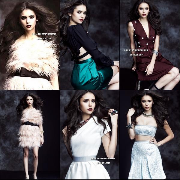. TheVampireDiarie EVENT | Nouvelles photos du shoot de Nina pour le magazine Flare de février 2011. Sublime, vous ne trouvez pas ? .