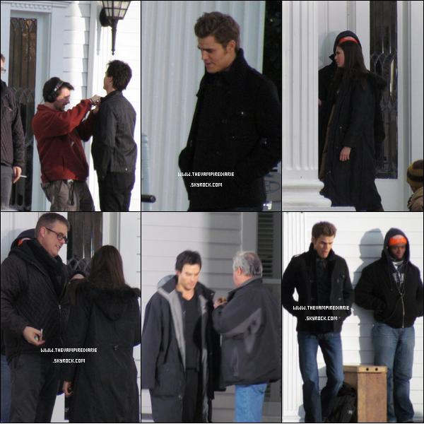 . » The Cast on the set  NEWS | Nina, Paul & Ian sur le tournage de la saison 2 de la série.Ils sont en train de tourner l'épisode 17 aux dernières nouvelles. Crédit photos