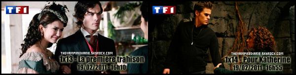 . » Episodes diffusés sur TF1 ce samedi DOSSIER | (Re)découvre les épisodes 1x13 «La Première Trahison» & 1x14 «Pour Katherine». Qu'en pensez-vous ? .
