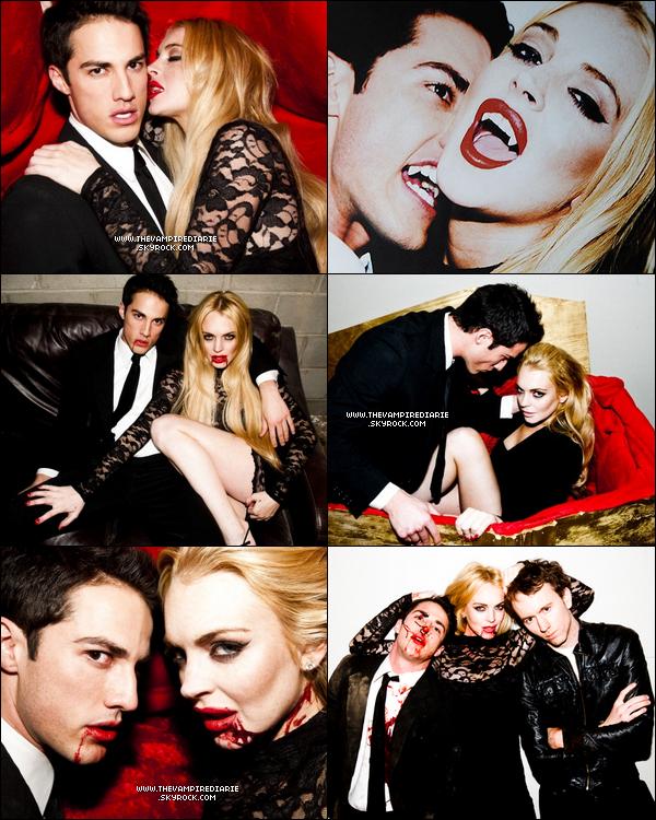 . PHOTOSHOOT | Michael ou notre loup-garou préféré transformé en vampire le temps d'un photoshoot réalisé par Tyler Shields aux côtés de la belle Lindsay Lohan. Qu'en pensez-vous ?.