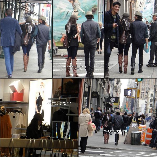 . CANDID - 17 mai 2011 | Nina & Ian se baladant tous les deux dans les rues de New York..