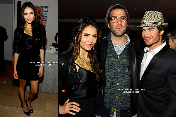 ". EVENT - 17 mai 2011 | Nina & Ian se sont rendus au ""InStyle Upfronts Party"" à New York City .."