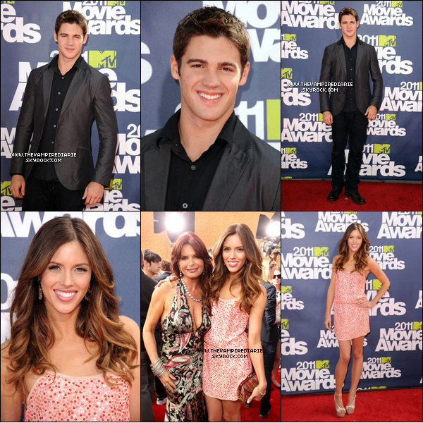 . EVENT - 05 juin 2011 | Nina, Steven & Kayla étaient tous les trois présents au  MTV Movie Awards..