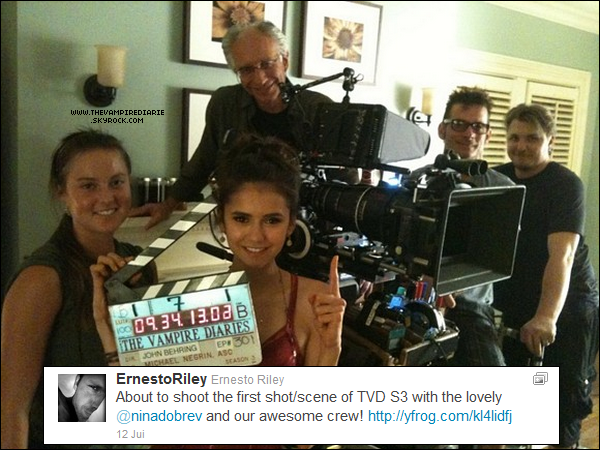 . TWITTER | Matt Davis a posté sur son Twitter une photo sur le tournage de la saison 3 de TVD..
