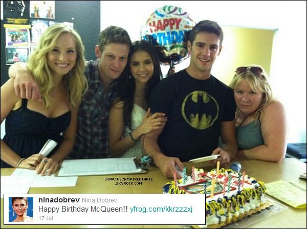 . TWITTER | Nina a posté une photo sur Twitter, photo prise lors de l'anniversaire de Steven..