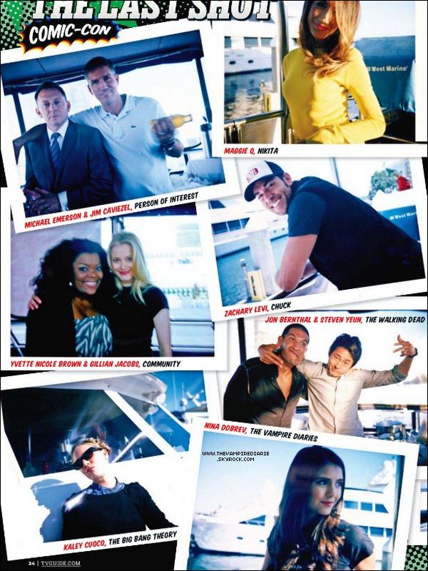 """. MAGAZINE SCANS   Scans du magazine """"TV Guide"""" spécial Comic Con avec des photos inédites du cast.."""
