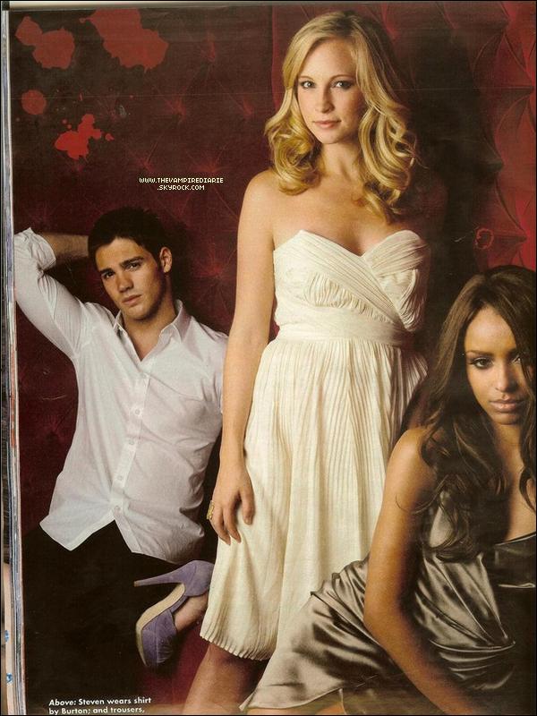 ". PHOTOSHOOT | Candice, Katerina & Steven pour le magazine anglais ""OK"".."