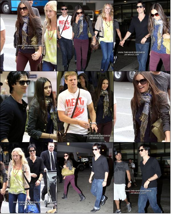 . CANDID - 09 septembre 2011 | Nina, Candice, Ian & Zach ont été photographiés à l'aéroport de LAX à L.A..