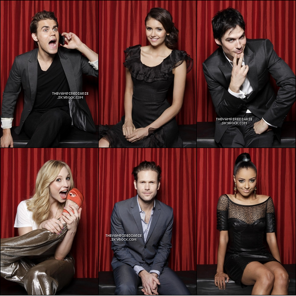 PHOTOSHOOT | Nina, Paul, Ian, Candice, Kat & Matt posent pour la magazine TV Guide lors du PaleyFest.