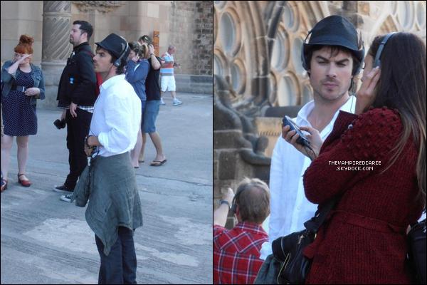 EVENTS/CANDIDS | Nina, Ian, Paul, Michael & Matt ont fait un voyage à Barcelone pour une convention TVD.