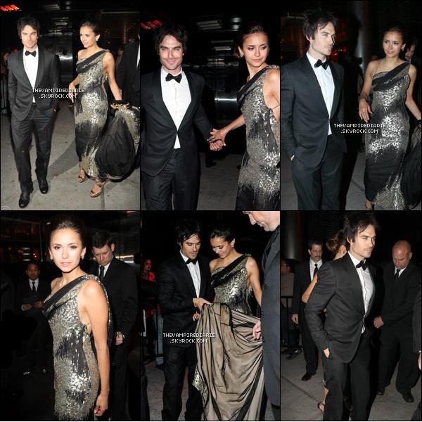 CANDIDS/EVENTS 7 mai 2012 | Nina & Ian étaient de sortie et se sont notamment rendus au Met Ball.