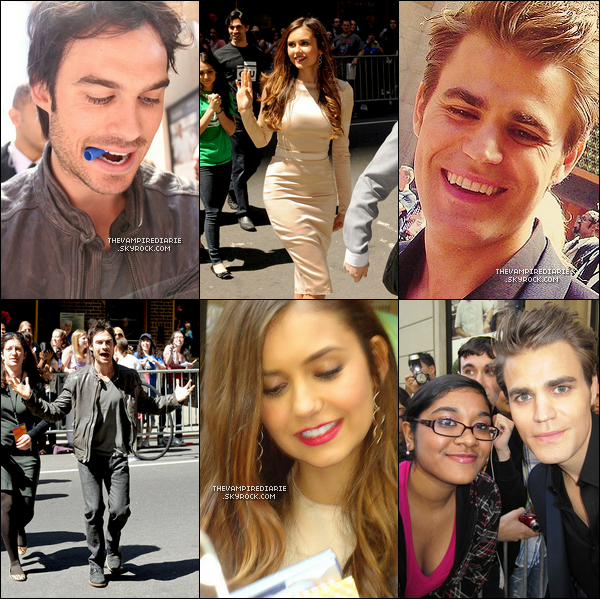 EVENT - 17 mai 2012 | Comme tous les ans, une grande partie du cast se rend au CW Network's Upfront.