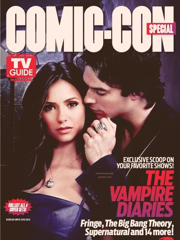 MAGAZINE COVERS | Deux couvertures exclusives du magazine TV Guide à l'occasion du Comic Con avec Nina & Ian d'un côté et Nina & Paul de l'autre, afin de confronter les Team Delena & Stelena. Faites votre choix.