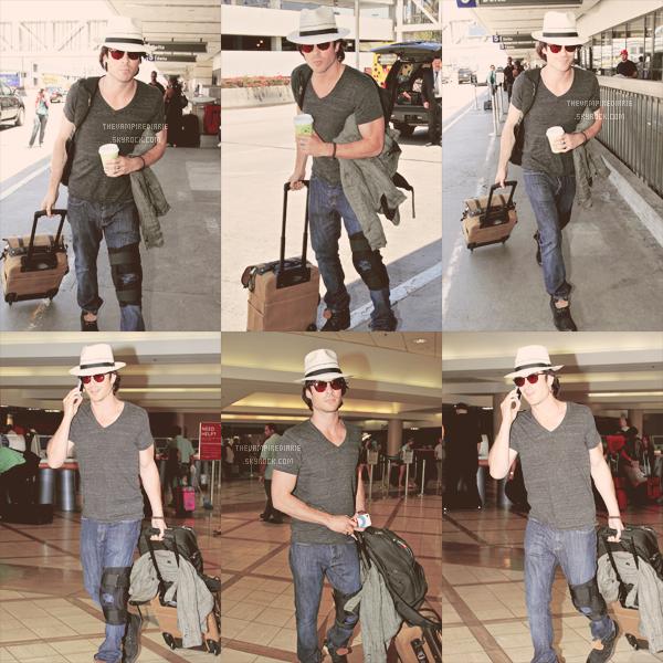 CANDID - 8 juillet 2012   Nina & Ian, ont été vus séparément à l'aéroport LAX de Los Angeles, direction Atlanta.