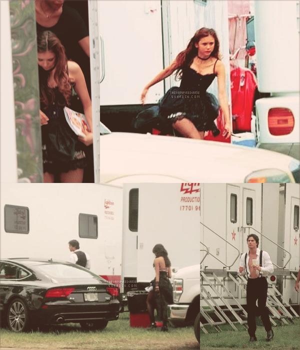 ON THE SET | Nouvelles photos provenant du tournage de l'épisode 4x04 et les acteurs posant avec des fans.