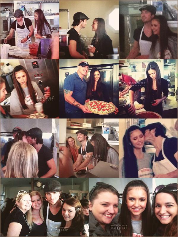 EVENT - 25 novembre 2012 | Nina & Ian ont partagé un agréable moment à la pizzeria McClain's à Mandeville. Ils ont fait des pizzas (miam) dans une ambiance très conviviale et des fans chanceux ont même eu une photo.
