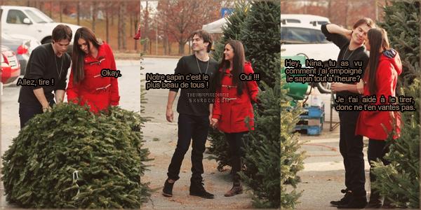 CANDID - 03 décembre 2012 | Nina & Ian ont été aperçus choisissant un sapin de Noël. Qu'ils sont mignons ! + J'ai rajouté ma petite touche personnelle avec une mini BD, qui est bien évidemment à prendre avec humour ! J'espère que vous aimez.