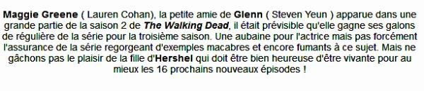 News: Maggie, pour 16 épisodes!