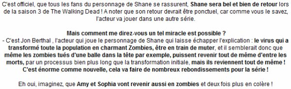 News: Le retour de Shane confirmé ! + La sortie de la saison 2 en DVD Blu-ray le 3 juillet 2012 !