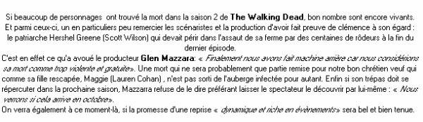 The Walking Dead : Hershel devait mourir dans la saison 2.