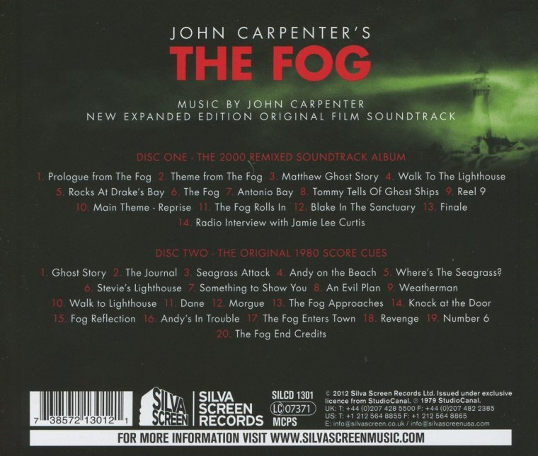 The Fog soundtrack.