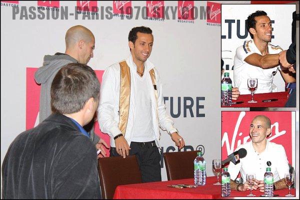 17 Nov. 2010 : Séance de Dédicaces, Nenê & Jallet au Virgin Megastore des Champs-Elysées.