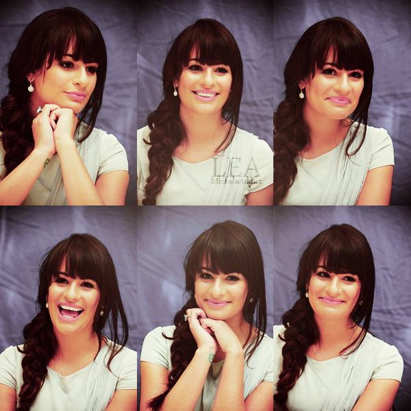 CONFERENCE DE PRESSE:Hier,Lea été à une conférence de presse avec Matthew Morrion,Jane Lynch,Cory Monteith et Chris Colfer pour la saison 3 de Glee.