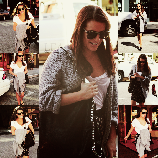 CANDIDS  DU 11/10/2011:Lea a été vu quittant un bâtiment médical à Beverly Hills.Top sa tenue j'aime !