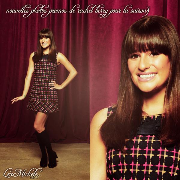 GLEE:Deux nouvelles photos promo de Rachel Berry pour la saison 3 viennent d'apparaître.
