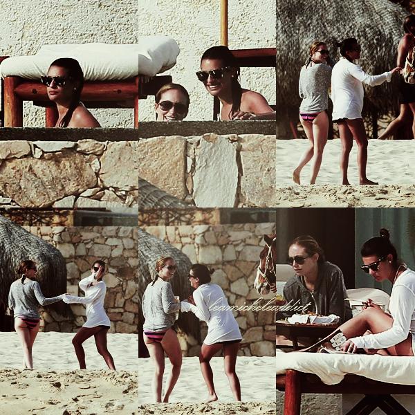 CANDIDS  DU 19/02/2012:Lea a été vu avec une amie à Cabo.