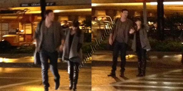 CANDIDS  DU 25/03/2012: Lea en compagnie de Cory Monteith à l'aéroport de NY.