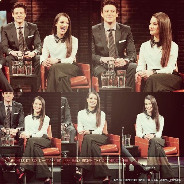 TV APPENRENCES: Lea est ses co-stars au Inside The Actor's Studio.