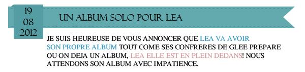 Album solo pour Lea,