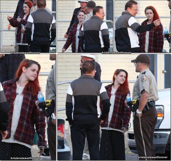 """Kristen sur le tournage de """"American Ultra"""" le 15/04/2014"""