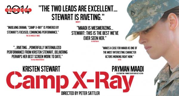 """Le film """" Camp X-Ray"""" sera projeté le 16 mai pendant le Marché du Film de Cannes 2014 + Nouvelle photo de Kristen sur le tournage du film """"Camp X-Ray"""" + Photo promotionnel de Kristen pour la campagne """"Métiers d'Art Paris-Dallas"""" en HQ"""
