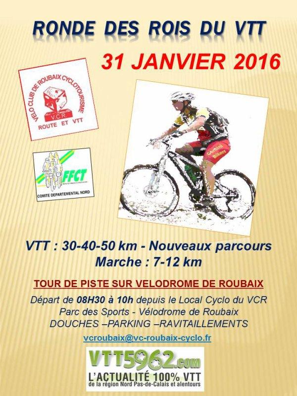 16ème édition de la ronde des rois du Vtt  le 31 Janvier 2016