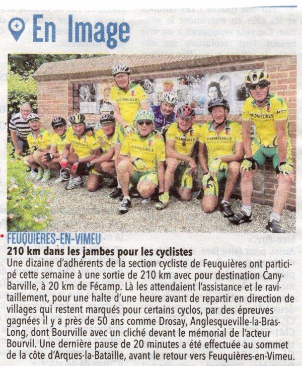 Feuquières en Vimeu - Cany Barville (76) - Feuquières en Vimeu (80)  mardi 4 Juillet 2017