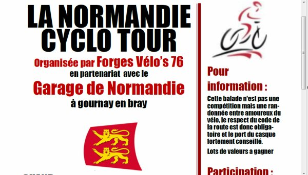 La Normandie Cyclo-Tour à Forges les Eaux (76)