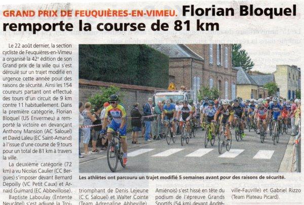 La belle semaine de la Section Cycliste de Feuquières en Vimeu (80)