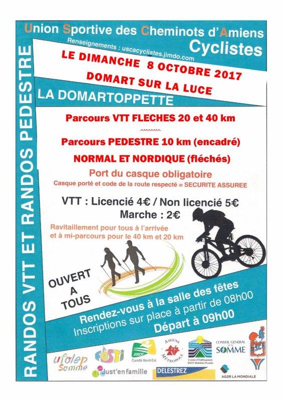 Rando VTT et marche de Domart sur la Luce (80)  dimanche 8 Octobre 2017