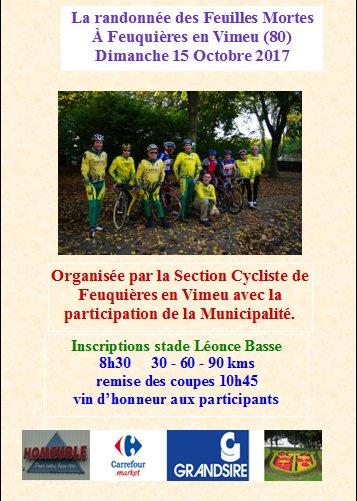 dimanche 15 Octobre 2017 à Feuquières en Vimeu (80)