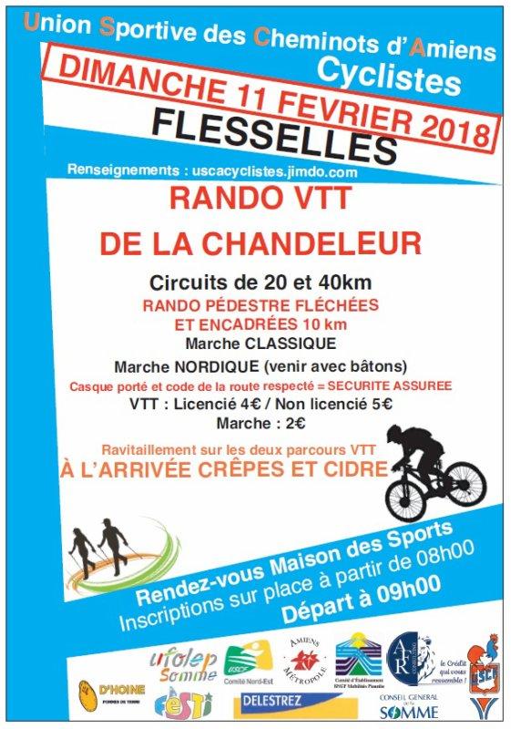 Affiche Rando VTT à Flesselles (80) le 11 février 2018