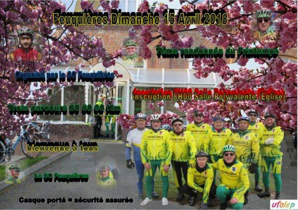 7éme édition de la randonnée du Printemps à Feuquières en Vimeu (80) dimanche 15 Avril 2018