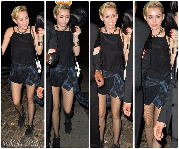 22 oct 2013 - Leaving her SoHo hotel and heading to Beatrice Inn in New York City