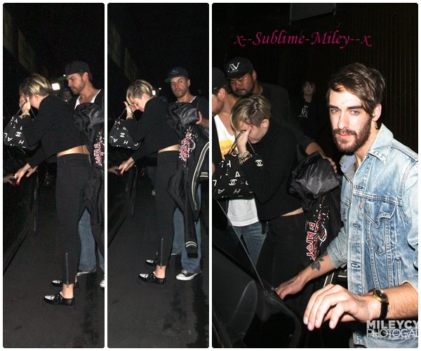 28 oct 2013 - 28.10 - Quitte le V Nightclub à Hollywood avec un ami