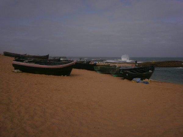 La cote de walidiya sur l'atlantique(belle petite  ville entre Eljadida et Safi)